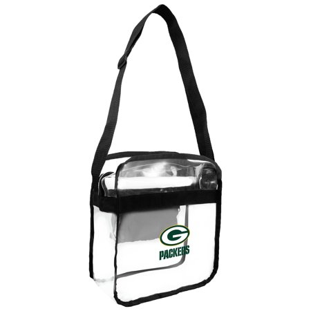 Little Earth - NFL Clear Carryall Cross Body Bag, Green Bay -
