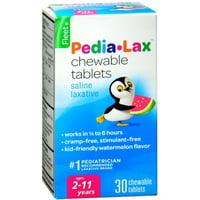 6 Pack - Fleet Pedia-Lax Chewable Tablets Watermelon Flavor 30 Tablets