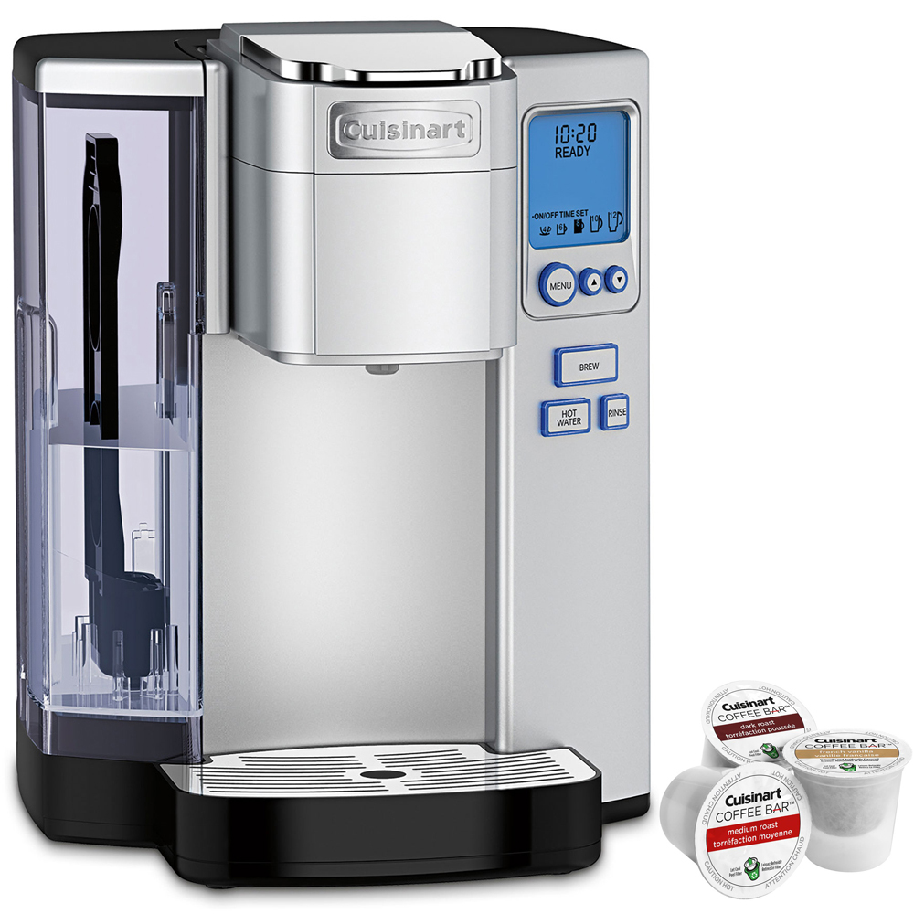 Cuisinart Premium Single Serve Coffeemaker (SS-10) with Coffee Bar K Cup Single Serve 3 Capsules