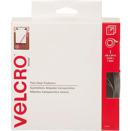 """Velcro Sticky Back Tape, 3/4"""" x 15', Clear"""