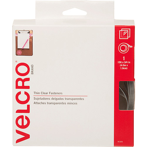 "Velcro Sticky Back Tape, 3/4"" x 15', Clear"