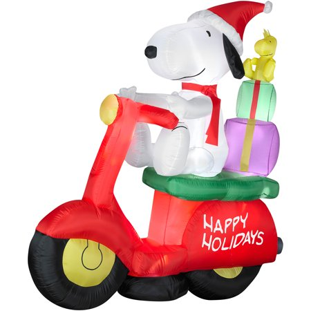 6' Snoopy W/woodstock Airblown - Inflatable Snoopy