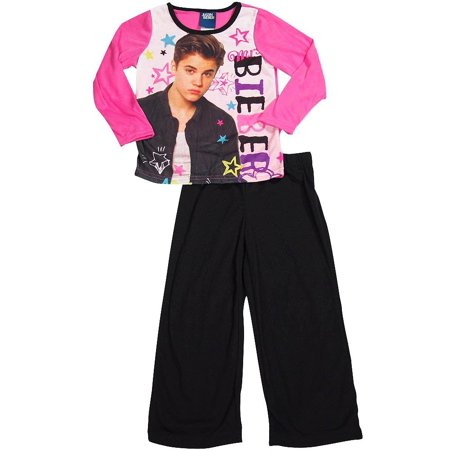 Justin Bieber - Little Girls Long Sleeve Justin Bieber Pajamas MULTICOLOURED / 6 ()