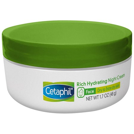 Cetaphil Rich Hydrating Night Cream, Face Moisturizer For Dry Skin, 1.7