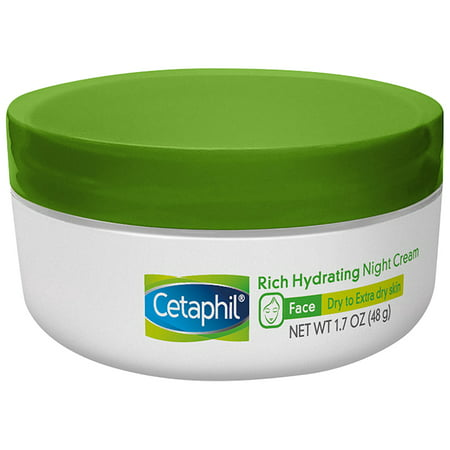 Cetaphil Rich Hydrating Night Cream, Face Moisturizer For Dry Skin, 1.7 -