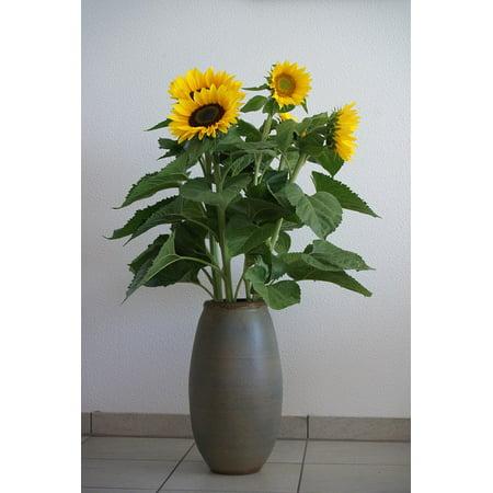 Canvas Print Birthday Bouquet Yellow Flower Sunflower Bright Stretched Canvas 10 x 14