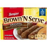 Banquet Brown N Serve Frozen Side Original Sausage Links 6.4 Ounce 10-Count