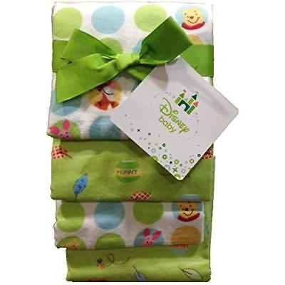 Winnie the Pooh Flannel Baby Receiving Blankets Set of 4 New by Crown Crafts