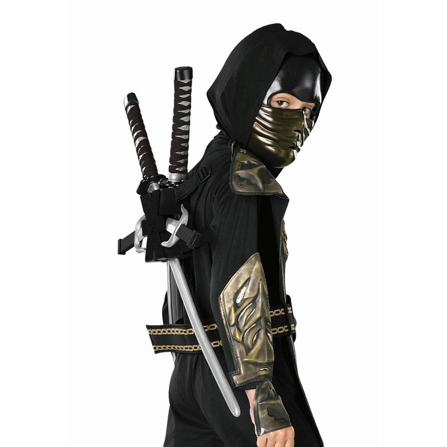 Child Costume Black Ninja Backpack Halloween Costume Accessory