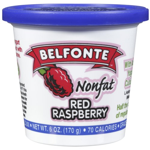Belfonte Nonfat Red Raspberry Yogurt, 6 oz