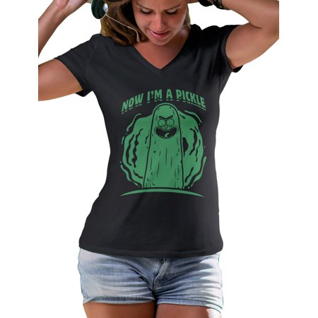 Now I'm a Pickle Rick Fan Made Shirt Morty by LeRage Shirts WOMEN'S Black (Rick And Morty S3 E3 Pickle Rick)