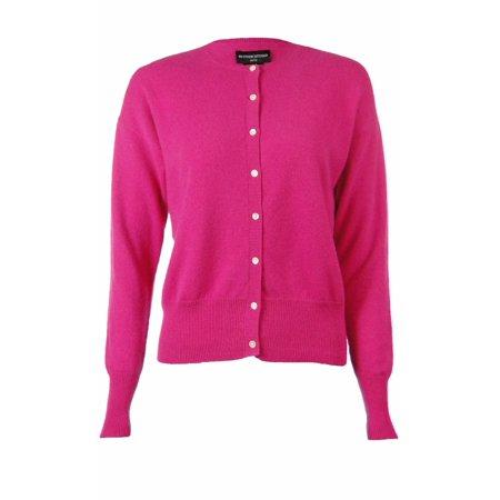 Sutton Studio Womens 100% Cashmere Crewneck Cardigan Sweater Misses by