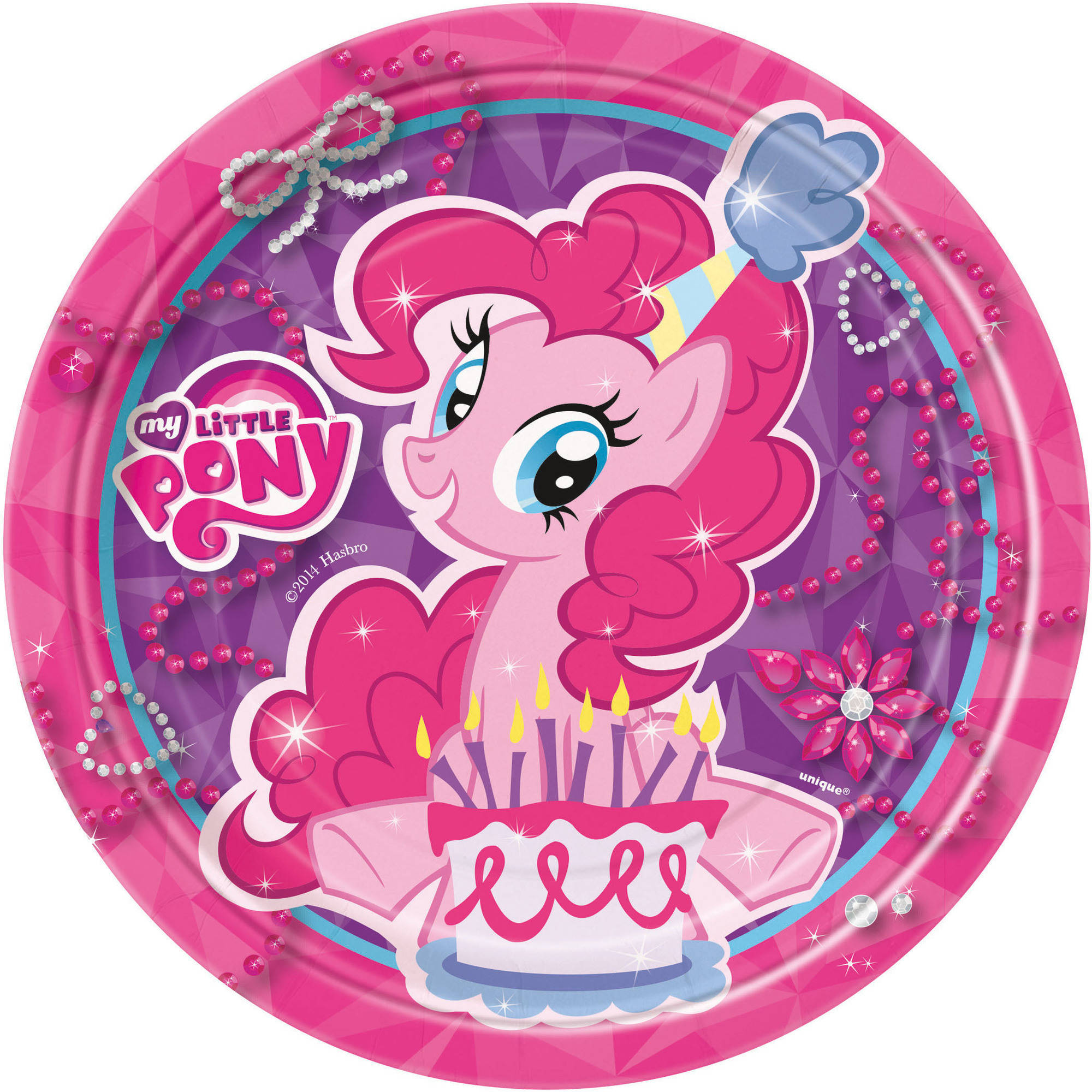 "7"" My Little Pony Paper Dessert Plates, 8ct"