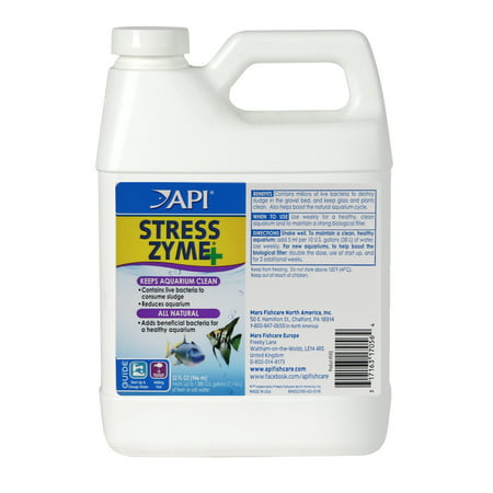 - API Stress Zyme, Freshwater And Saltwater Aquarium Cleaning Solution, 32 oz