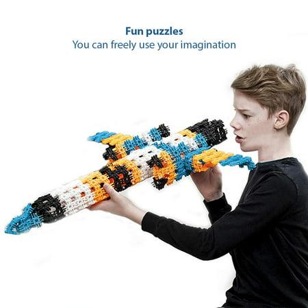 94PCS Snowflakes Children's Puzzle Kids Building blocks DIY Assembly Toys Enlighten Wisdom Design Boys Girls - image 2 of 8