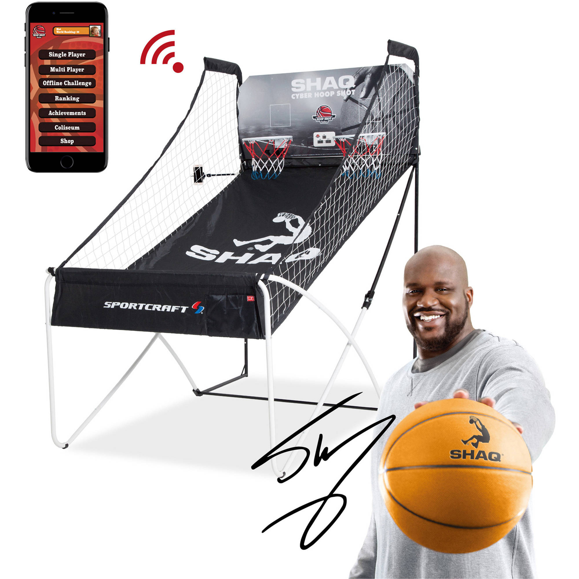 SHAQ Double Hoop Shot Basketball Arcade Conventional + Online App Game Sportcraft