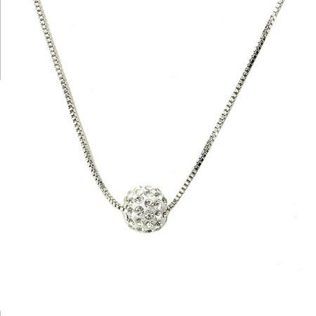 Fysho Women Exquisite Shampoo Diamond Ball Pearl Pendants Clavicle Delicate Cute Minimalist