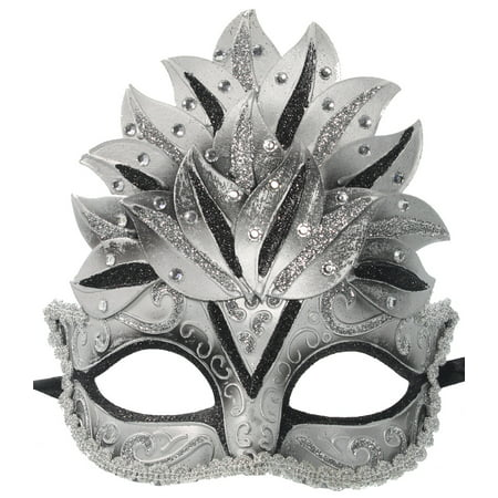 GLITTER CROWN MASK - Venetian Costume - MASQUERADE - Purple Venetian Mask