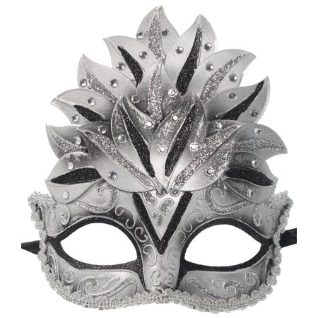 GLITTER CROWN MASK - Venetian Costume - MASQUERADE BALL - Mascerade Masks