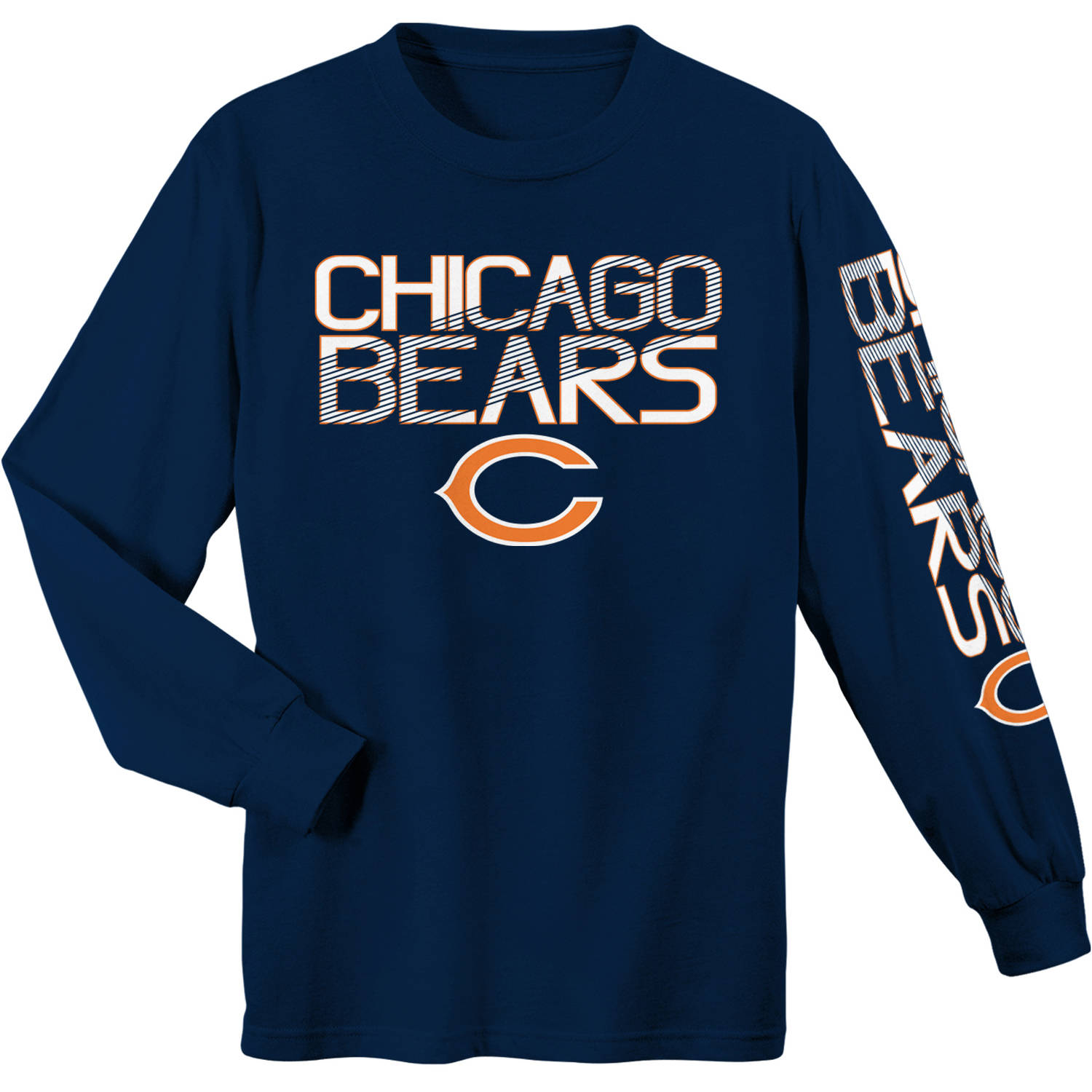NFL Chicago Bears Youth Long Sleeve Cotton Tee