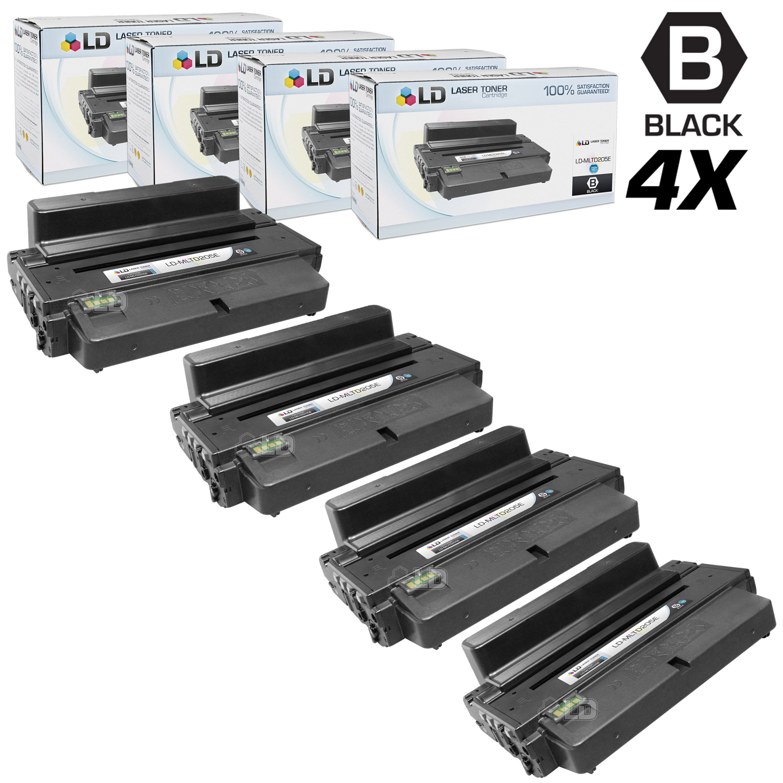 LD Black Cartridges for the Samsung MLT-D205E for the ML-3712 Printers for ML-3712, ML-3712ND. ML-5639FR and ML-5739FW