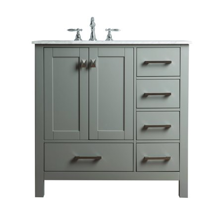 Stufurhome 36 inch malibu grey single sink bathroom vanity - Walmart bathroom vanities with sink ...