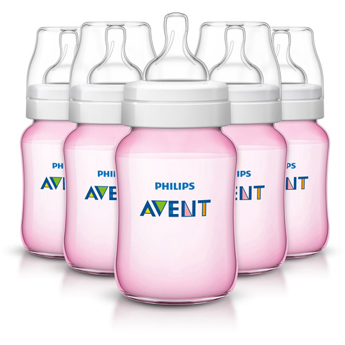 Philips AVENT Classic+ 9-oz Baby Bottle, BPA-Free, 5pk