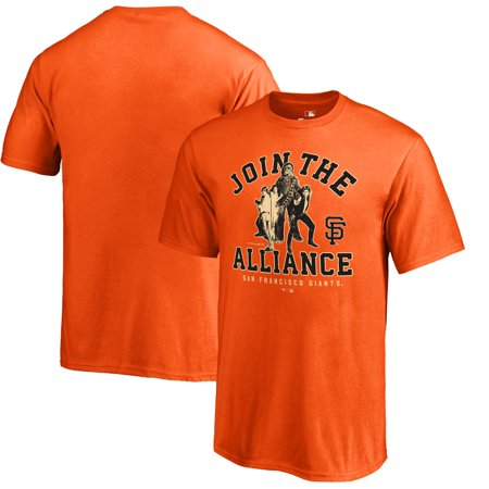 San Francisco Giants Fanatics Branded Youth MLB Star Wars Join The Alliance T-Shirt - Orange