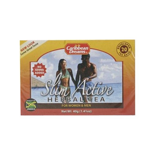 Caribbean Dreams Slim Active Herbal Tea Bags, 20 ct, 1.41 ...