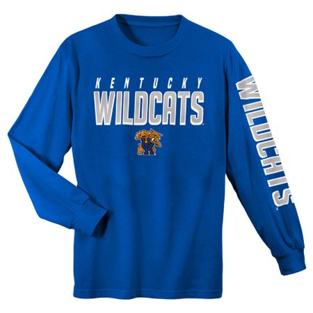 Kentucky Wildcats Cheerleading (Youth Royal Kentucky Wildcats Team Color Long Sleeve T-Shirt )