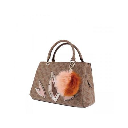Women's Handbag Guess Jaden Girlfriend Sat Brown Guess Handbag Pearl