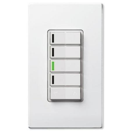 Leviton Vizia Rf   Z Wave 4 Button Zone Wall Controller  Vrcz4 M0z