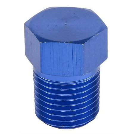 JEGS Performance Products 100430 Aluminum Pipe Plug 1/8 NPT Hex Head Blue 1/pkg 1/8 Npt Plug
