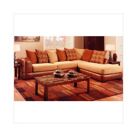Albany verona bonded leather and microfiber sofa chaise for Bonded leather sectional with chaise