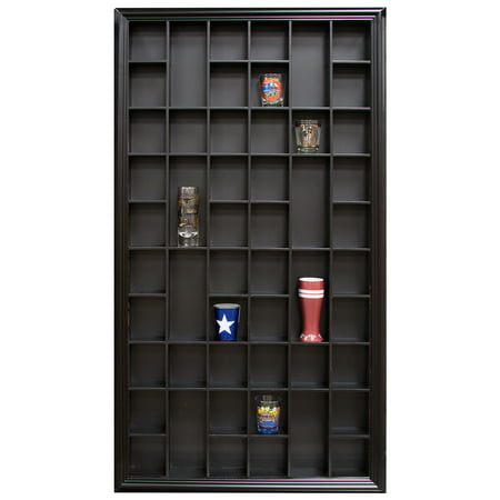 52 BLK OPENING SHOT GLS CASE - Shot Glass Display Ideas