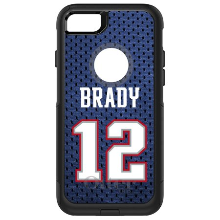 Distinctink  Custom Black Otterbox Commuter Series Case For Apple Iphone 7   Iphone 8  4 7   Screen    Brady 12 Jersey