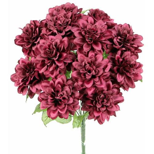 Charlton Home 12 Stems Artificial Full Blooming Dahlia