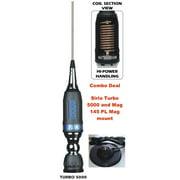 Sirio Turbo 5000 PL Mobile Antenna & Sirio Mag 145 Mag Mount