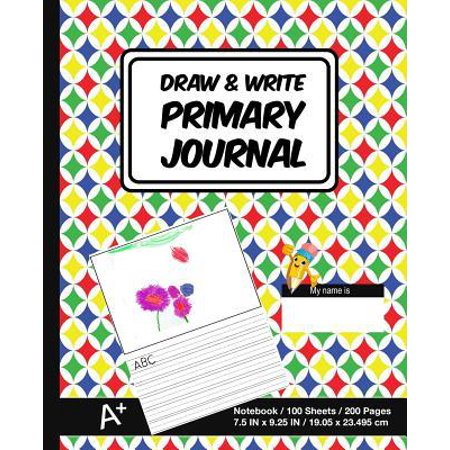School Writing (Draw & Write Primary Journal: School Design (4) - Kids Primary Drawing Writing Journal - Story Notebook For Home & School [Classic] Paperback)