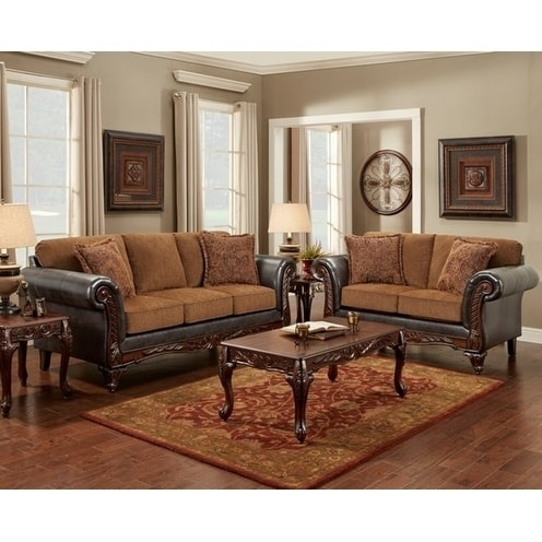 Sofa Trendz Cecilia 2pc Sofa and Loveseat
