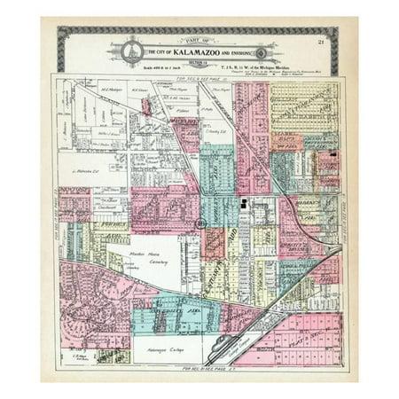 1910, Kalamazoo City, Kalamazoo College, Michigan, United States Print Wall - Party City Kalamazoo