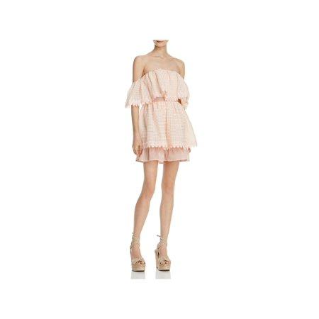 La Maison Talulah Womens Off-The-Shoulder Flutter Sleeves Party Dress (Printed Flutter Sleeve Dress)