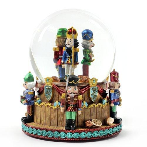 The San Francisco Music Box Company Christmas Nutcracker Soldiers Snow Globe Multi-Colored