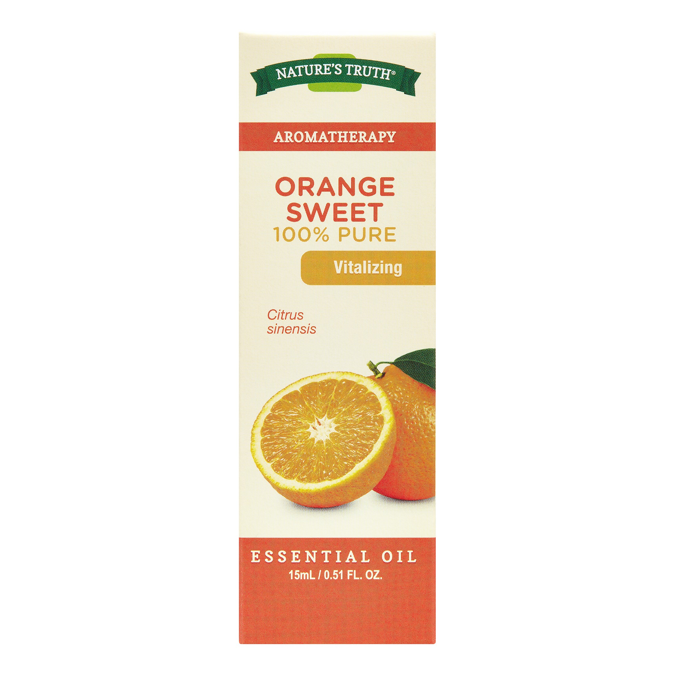 Nature's Truth Aromatherapy Orange Sweet Essential Oil, 0.51 Fl Oz