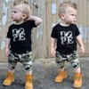 Toddler Kid Baby Boy Cotton Clothes Tops T Shirts Tee Long Camo Pants Outfit Set