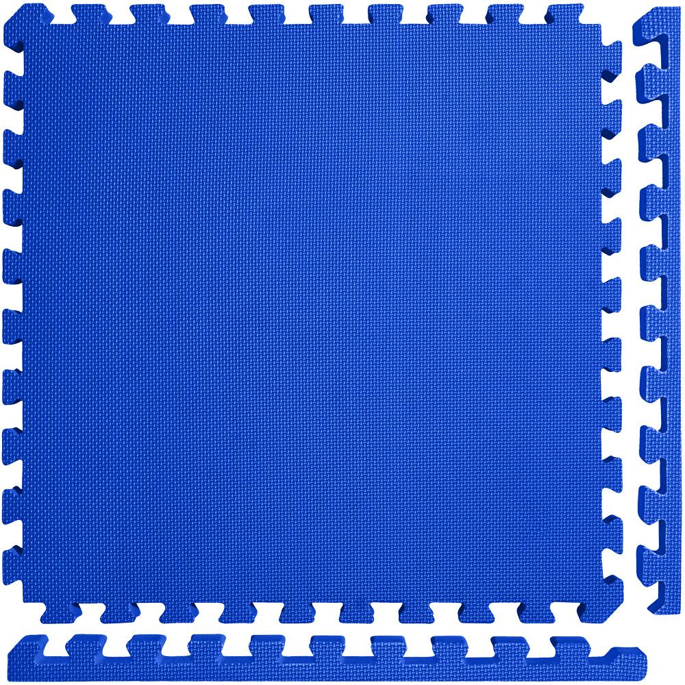 "Meister X-THICK 1.5"" Interlocking EVA Foam Mats - 2X Cushion for Wrestling, MMA Takedowns & Gymnastics - 2'x2' Tiles - Black - 10 Tiles (40 Sqft)"