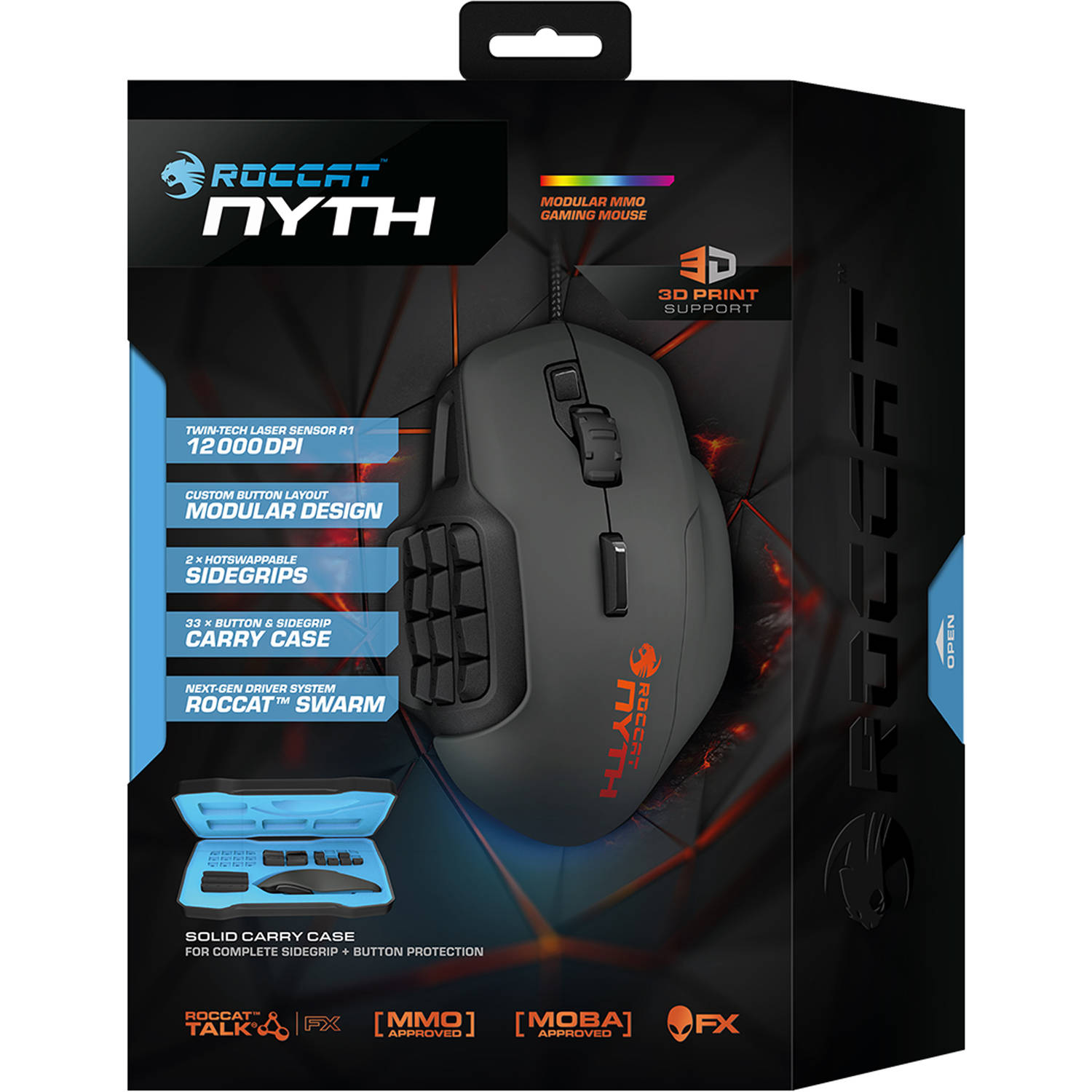 ROCCAT Nyth Custom Gaming Mouse with 12 Buttons, ROC-11-900-AM