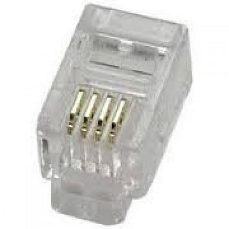 - Philmore TEC2B 4P4C 4 Conductor Modular Telephone Handset Crimp Plugs (10 pack)