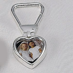 KEY CHAIN WITH HEART FRAME