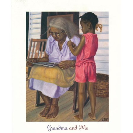 Grandma & Me Art Print By Gregory Myrick - 22x28